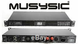 MUSYSIC Professional 2 Channel 8500 Watts D-Class 1U Power Amplifier MU-D8500