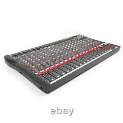 NEW 16 Channel Pro bluetooth Live Studio Audio Mixer power mixing Amplifier USA