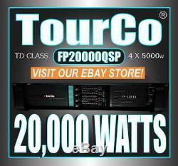 NEW! FP20000QSP 4-CH 20,000w PROFESSIONAL HI-DENSITY POWER AMPLIFIER by TourCo