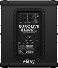 PAIR Behringer B1200D-PRO Active Subwoofer Powered Sub 500W amplified with2x XLR