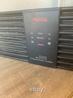 Panasonic RAMSA WP-1400 2-Ch Professional Power Amplifier 240W /CH @ 8-OHMS