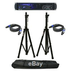 Peavey Ipr2 7500 Pro Audio Speaker Amplifier 7500W Amp Stands & Speakon Cables