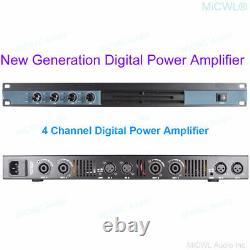 Pro 4 Channel 5200 Watts Power Amplifier Stage Home Digital Preamps Amplifiers