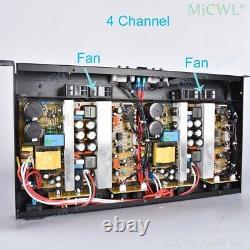 Pro 6400W Digital Power Amplifier 4 Way Drive 800W Speaker Each Channel PreAMPs