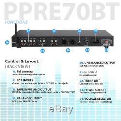 Pro Audio Bluetooth Pre Amp Amplifier Receiver Audio System Digital Studio Dj Fm