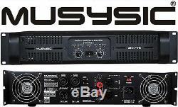 Professional 2 Channel 7000W DJ PA Power Amplifier Signal out MUSYSIC MU-P7K