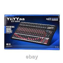 Professional Channel Live Studio Audio Mixer Power Mixing Amplifier 8/12/16