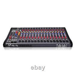 Professional Channel Live Studio Audio Mixer Power Mixing Amplifier 8 12 16