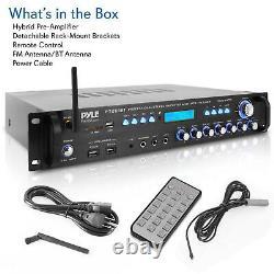 Pyle P3201BT 3,000 Watt Pro Audio Multi Channel Bluetooth Hybrid Receiver, Black