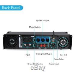 Pyle PTA1000 Rack Mount 1000w Professional PA DJ Power Bluetooth Amplifier Amp
