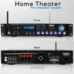 Pyle PWMA3003BT. NEW Pro Audio Multi-Channel Stereo Receiver with (2) VHF Wireles