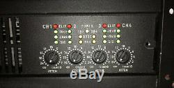 QSC CX404 Professional 4 Channel Power Amplifier Working Pull and Very Clean