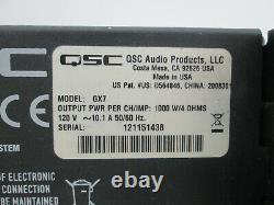 QSC GX-7 GX Series Professional 2-Ch Stereo Power Amp 725WithCh @ 8-OHMS 1000W @ 4