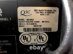 QSC MX 1500A Professional Stereo Amplifier 500 Watts @4 Ohms /ch Used Tested