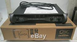 QSC PLX-1602 Pro Power Amplifier 300W /CH @ 8-OHMS Box & Manual