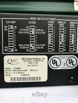 QSC PLX3002 Pro Power Amplifier