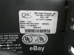 QSC PowerLight 4.0 Pro Power Amplifier PL4.0 900 WPC @ 8 OHMS