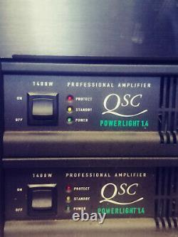 QSC Powerlight 1.4 1400 Watt Professional Amplifier