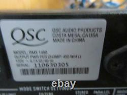 QSC RMX 1450 Professional 2 Channel Stereo Power Amplifier Rack Used Amp 1400W