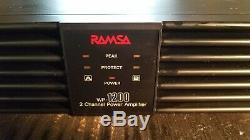 RAMSA Panasonic Professional WP-1200 Stereo Power Amp 200W per channel @ 4 ohms