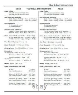 Rack Mount Bryston 4B SST Pro Power Amplifier 300W /CH @ 8-OHM
