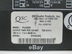 Rack Mount QSC PLX 2402 Professional Power Amplifier