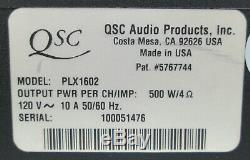 Rackmount QSC PLX-1602 Pro Power Amplifier 300WithCH @ 8 OHMS + Box & Manual #1721