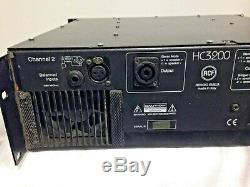 Rcf Hc3200 High Current Series Professional Stereo Amplifier
