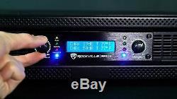 Rockville RPA14 7000w Peak 2000w RMS 2 Channel Power Amplifier Pro/DJ Amp+Cables