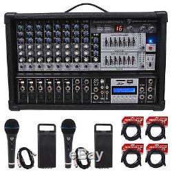 Rockville RPM109 4800w 12-Ch. Powered Pro Mixing Amplifier, 7 Band EQ, FX, USB