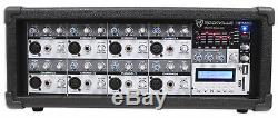 Rockville RPM85 2400w Powered 8-Ch. Pro Mixing Amplifier USB, 5 Band EQ, Effects