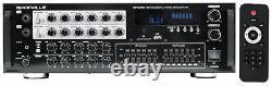 Rockville SingMix 45 1000 Watt Powered Mixer Amplifier Amp withBluetooth/USB/Echo