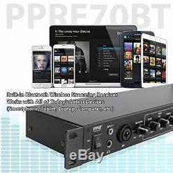 Sound Around Pyle Pro Rack Mount Studio Pre-Amplifier Audio Receiver System with