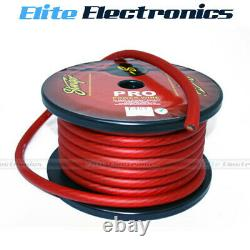 Stinger 1/0 Awg Gauge Pro Series Red Amplifier Power Cable Wire Spw10tr 1 Meter