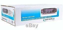 Technical Pro AX3000 3000 Watt 2 Channel 2U DJ Power Amplifier with 3 Band EQ