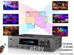 Technical Pro H12X500BT 6000w Hybrid Amplifier / Preamp/ Tuner with 12 Speaker