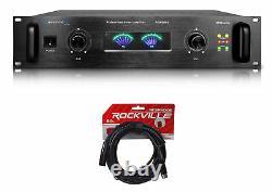 Technical Pro POWER65 6500W 2 Channel 2U Power Amplifier Amp + XLR Cable