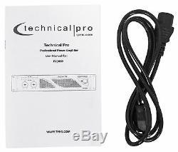 Technical Pro PX3000 Professional 2U 2-Ch. 3000W Power DJ Amplifier+Headphones
