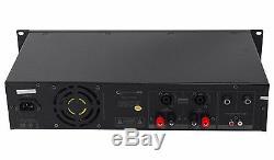 Technical Pro PX3000 Professional 2U 2-Channel 3000 Watt Power DJ Amplifier