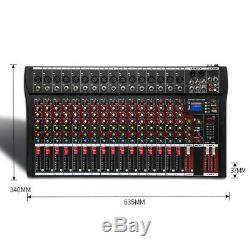 US 16 Channel Professional Powered Mixer power mixing Amplifier Amp 4000 Watts