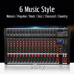 USA 4000 Watts 16 Channel Professional Powered Mixer power mixing Amplifier Amp