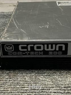 Used Crown Com Tech 200 2-Channel 2-CH AMP Stereo Power Pro Amplifier