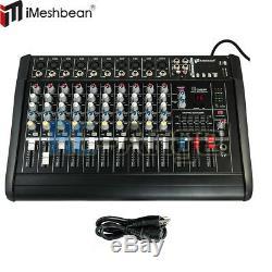 10 Canaux Professionnels Puissance Amplifiée Table De Mixage De Mixage Amplificateur Amp 16dsp 48v USA
