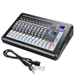 10 Channel Professional Dj Power Mixer Amplificateur 16dsp LCD Enregistrement Usb Fente