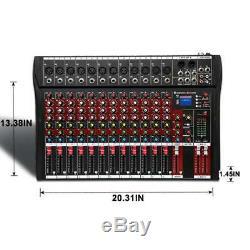 12 Canaux Professional Puissance Powered Mixer Mixage Amplificateur