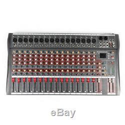 16 Canaux Powered Mixer Professional Puissance De Mixage Amplificateur Amp 16dsp Usb