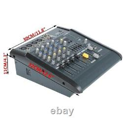 180w 4ch Professional Powered Mixer Power Mixing Amplificateur Amp Amplificateur 16 Dsp Dj Us Nouveau