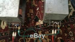 1957 Rare Eag Pair Amplis À Lampes Tube Pro Vintage Siemens Telefunken El-84