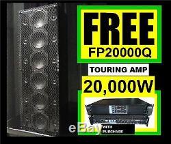 (2) Bortec Lab La6512 12kw Line Array Professional Avec Amplifier Fp20000q Power
