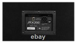 (2) Jbl Pro Jrx225 2000 Watt Dual 15 Dj Pa Speakers+power Amplificateur+cables